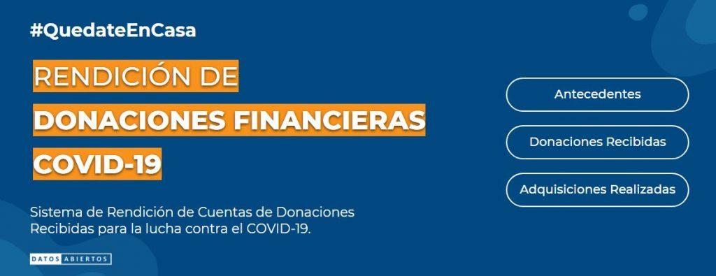 Sistema de Rendición de Cuentas de Donaciones Financieras Recibidas para la lucha contra el COVID-19